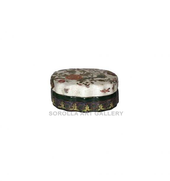 Porcelana decorada: Caja ondulada 13cm - Milex