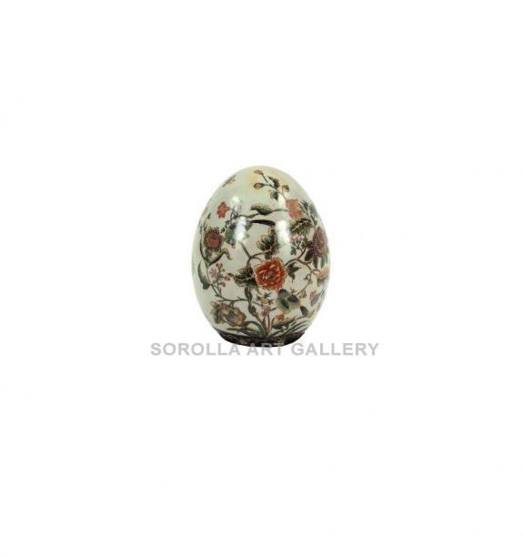 Porcelana decorada: Huevo 15cm - Milex