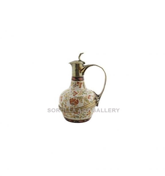 Porcelana decorada: Jarra asa tapa 28cm - Hiti