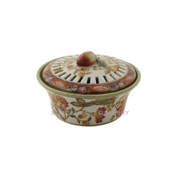 Porcelana decorada: Caja aromática 13cm -Hiti