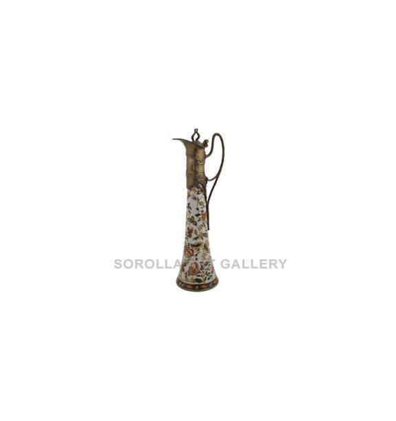 Porcelana decorada: Jarra alargada con tapa 39cm - Hiti