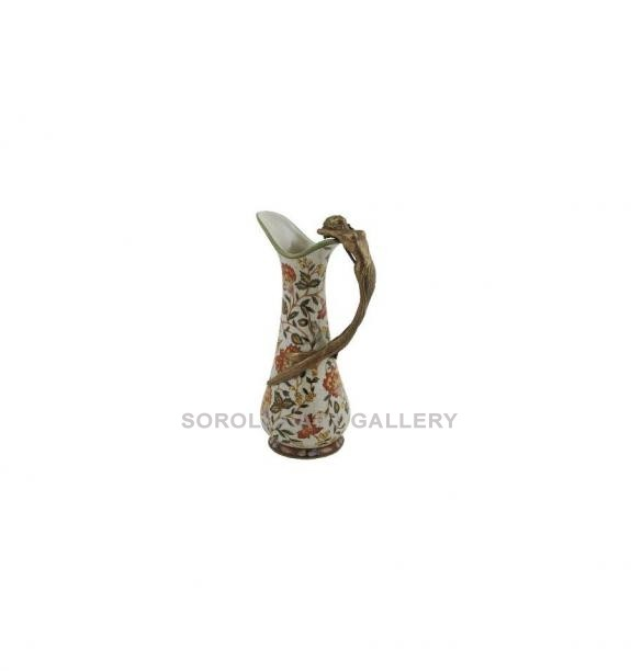 Porcelana decorada: Jarra asa mujer 25cm - Hiti