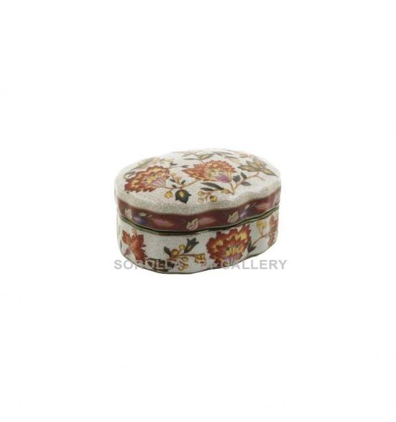 Porcelana decorada: Caja ondulada 13cm - Hiti