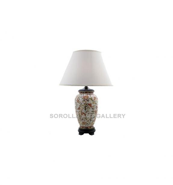 Porcelana decorada: Pie de lámpara jarrón 38cm - Hiti