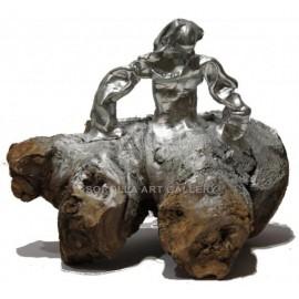 Sculptures: Menina Silver Swarovski (AL/137)