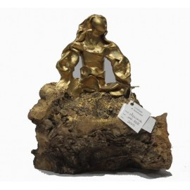 Sculptures: Menina Gold Swarovski (nº 138)