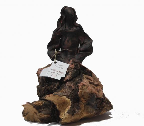 Esculturas: Menina Swarovski Negra (nº 144)