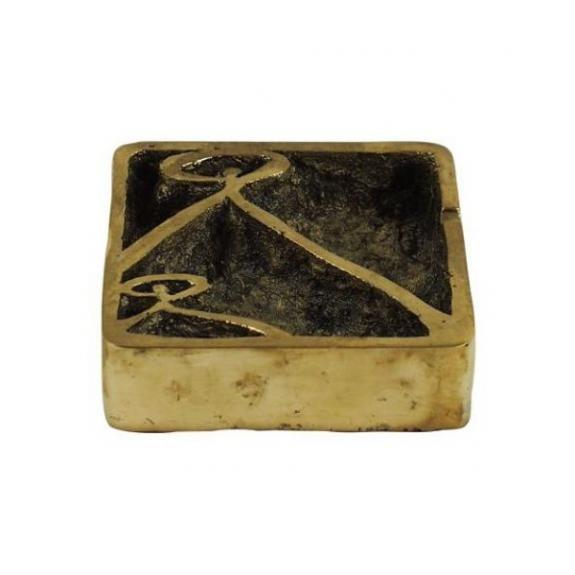 Bronces: Pisapapel cenicero cuadrado -Indalo-