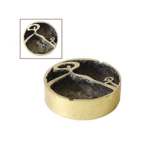 Bronces: Pisapapel cenicero redondo gm -Indalo-