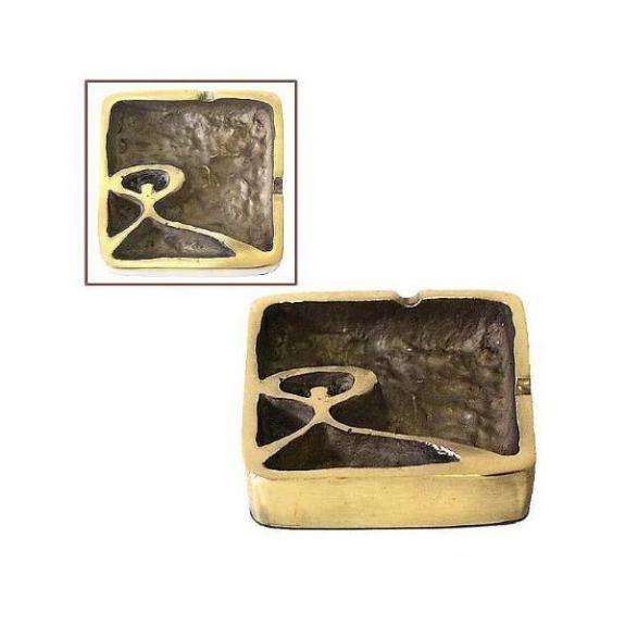 Bronces: Pisapapel cenicero cuadrado mm -Indalo-