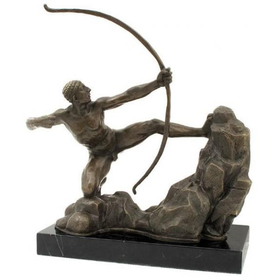 Bronces: Hércules con arco