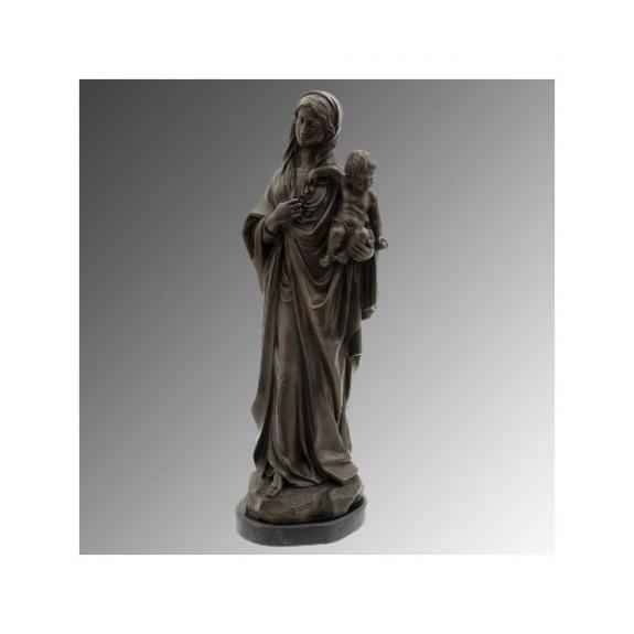 Bronces: María con el niño