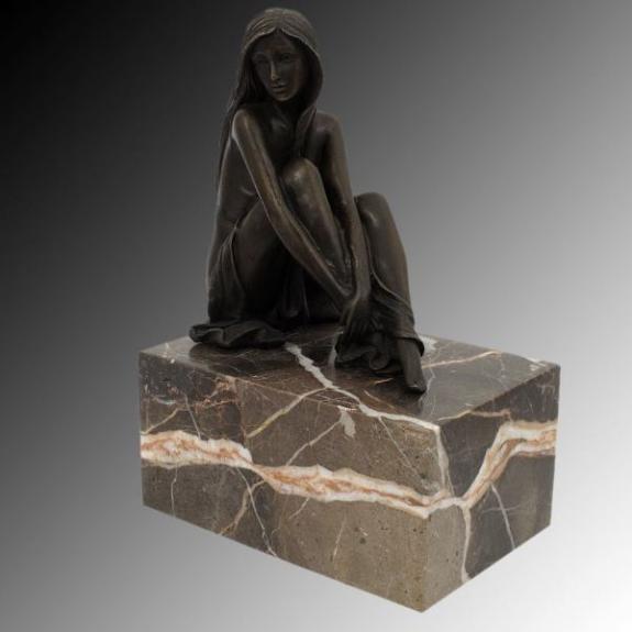 Bronces: Mujer desnuda (Sujetalibros)