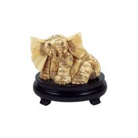 Elephant sitting - 16cm