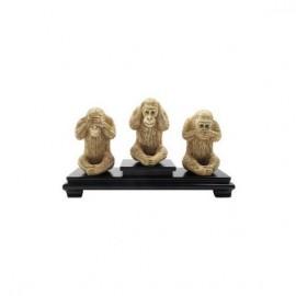Monos de la sabiduría 10cm - Set de 3