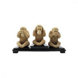 Monos de la sabiduría 15cm - Set de 3