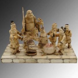 Buda con niños - 30cm