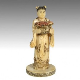 Goddess with basket of flowers 18cm