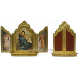Hinged triptych
