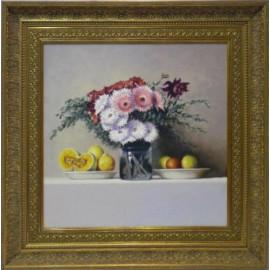 Bodegon con flores