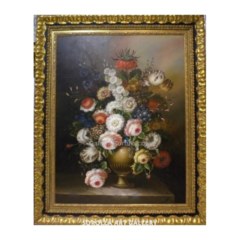 Escuela Holandesa: Flores. Venta de cuadros en la Galería de Arte