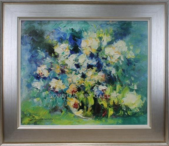 Escuela Sorolla: Jarron con flores. Venta de cuadros en la Galería ...
