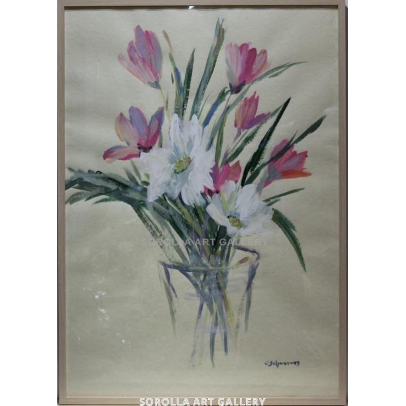 Carmen Shaman: Jarron con flores. Venta de cuadros en la Galería de Arte