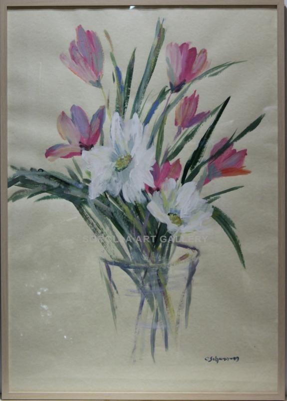 Carmen Schamann: Jarron con flores