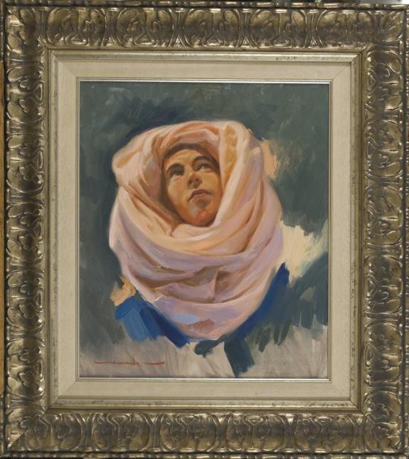 Jose María Menacho: Figura con turbante