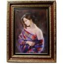 La mujer del mantón lila