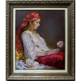 Mario Díaz: Mujer con rosas