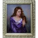 Mario Díaz: Mujer con manton lila