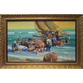 Oxen at the beach