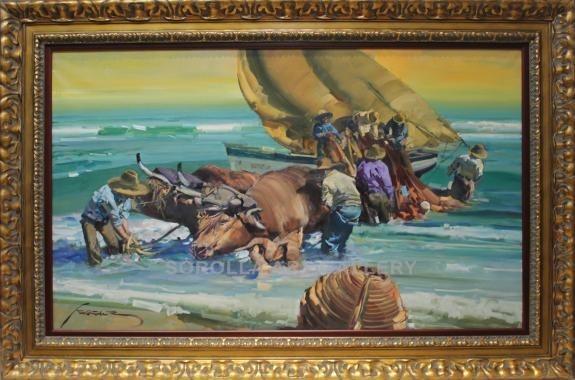 Eustaquio Segrelles: Bueyes en la playa