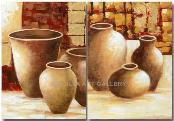 Jarrones pareja venta de cuadros en la galera de arte - Pinturas bodegones modernos ...