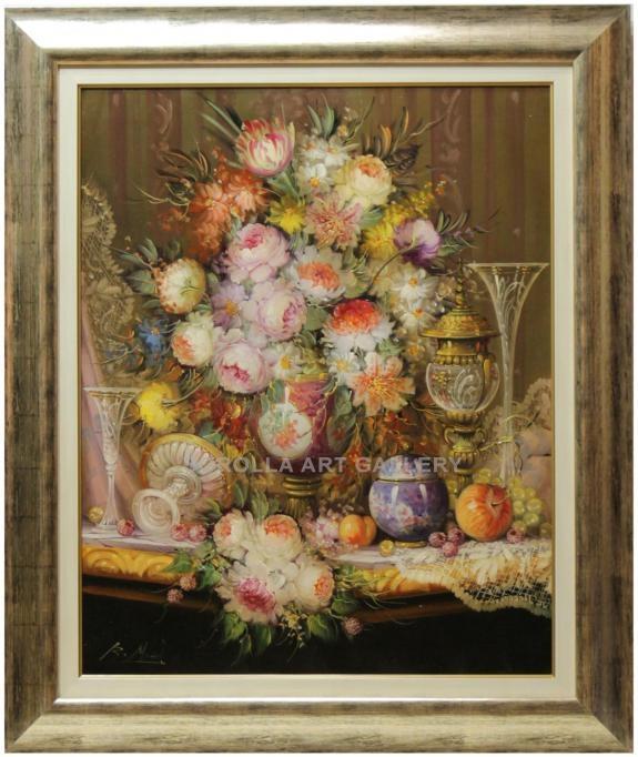 Michel bodegon de flores venta de cuadros en la galera for Cuadros estilo clasico
