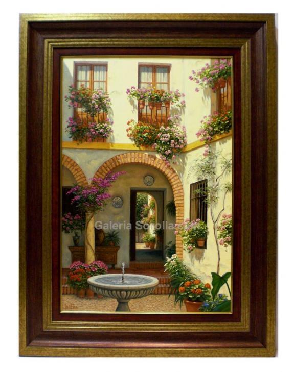 Jesús Fernández: Patio con arcos. Venta de cuadros en la Galería de ...