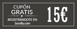 Gratis cupón 15 euros al registrarte para tu primera compra